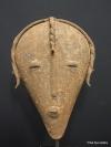 SOLD FEB 2013 Angolan metal mask 23 cms / 9 ins 1 kilo