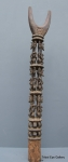 Senufo staff 58 ins / 148 cms tall plus 2 ins / 5 cms for metal stand----5 kilos